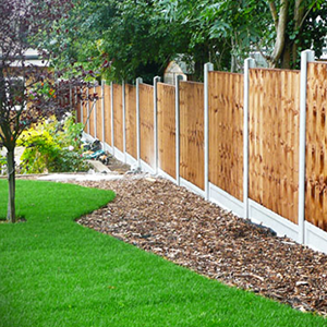 Wood Fence and Lawn